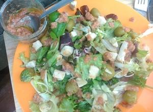 Chicken Salad with Jamco Banilla Dressing