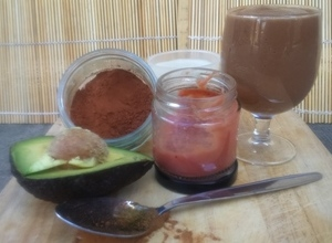 Dark Choco Avocado Jamco Banilla smoothie