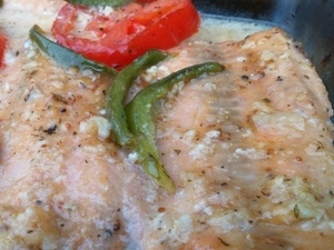 Oven Cooked Salmon with Jamco Fig Dressing