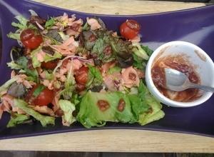 Salmon Salad with Jamco Banana Dressing