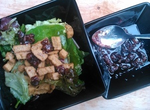 Tofu Salad with Jamco Banana and Raspberry Dressing
